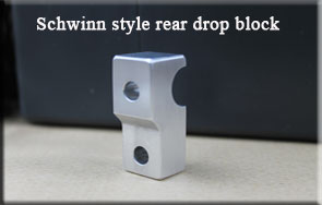 Rear brake Schwinn drop block for extended reach